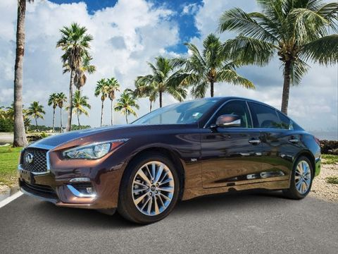 Pre-Owned 2018 INFINITI Q50 3.0t LUXE RWD 4D Sedan